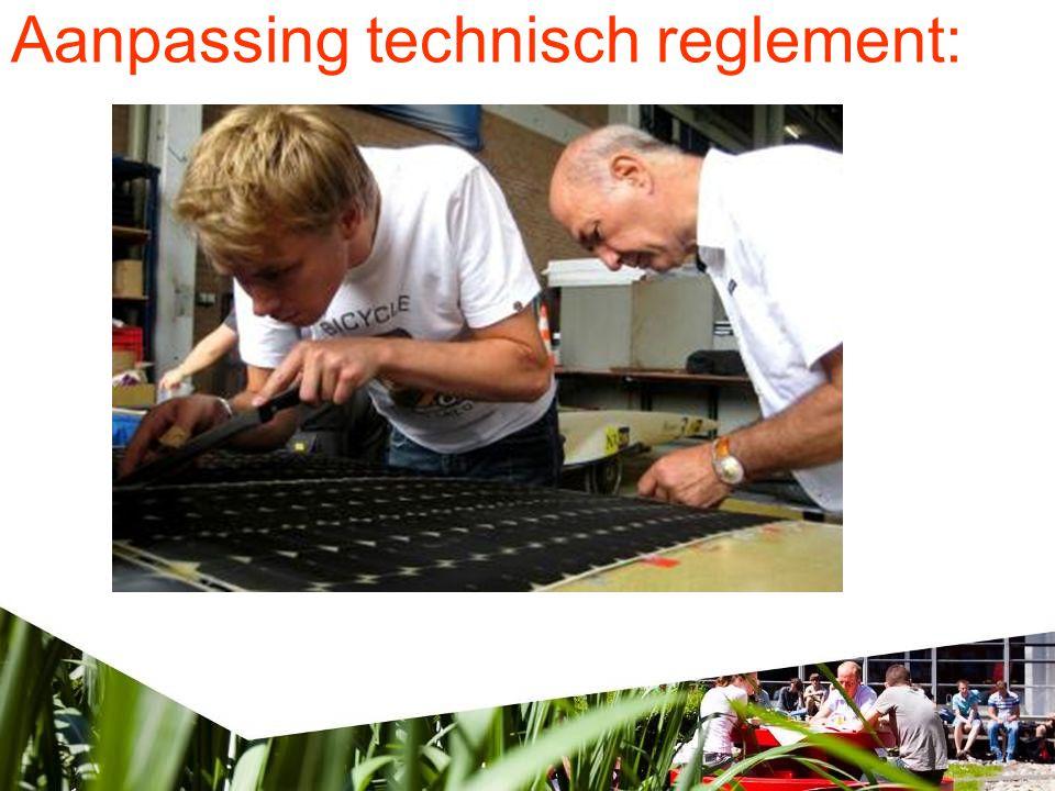 Aanpassing technisch reglement: