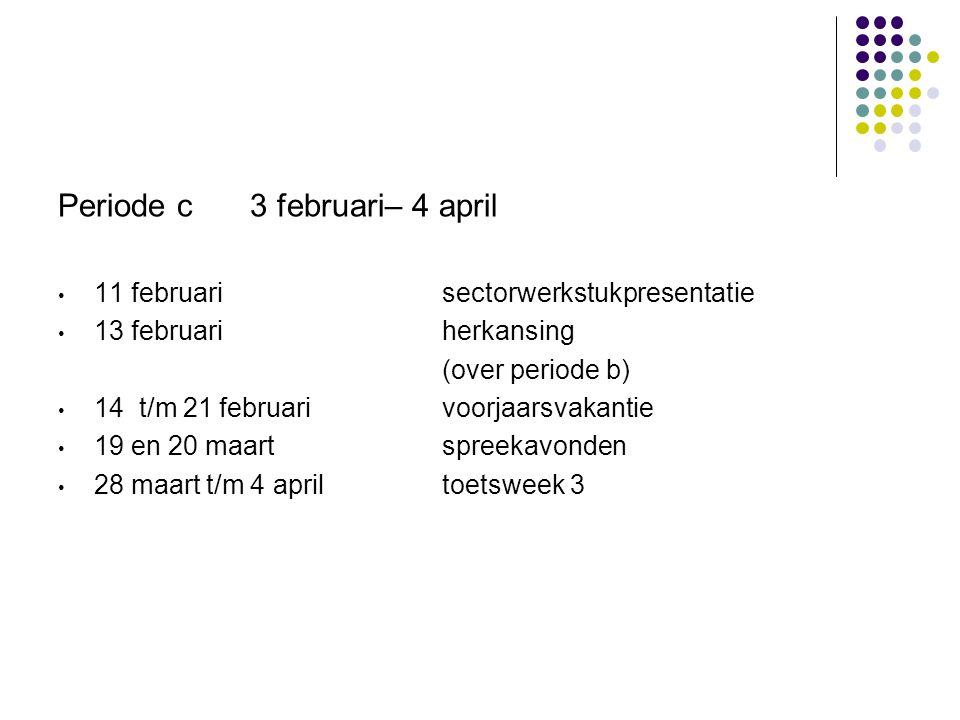 Periode c 3 februari– 4 april