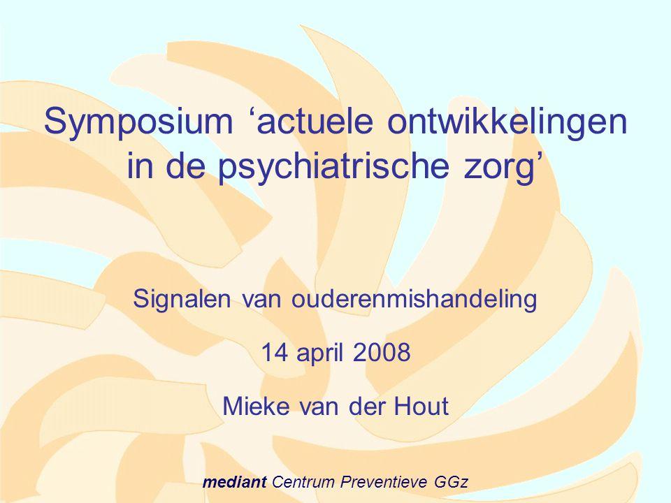 Symposium 'actuele ontwikkelingen in de psychiatrische zorg'