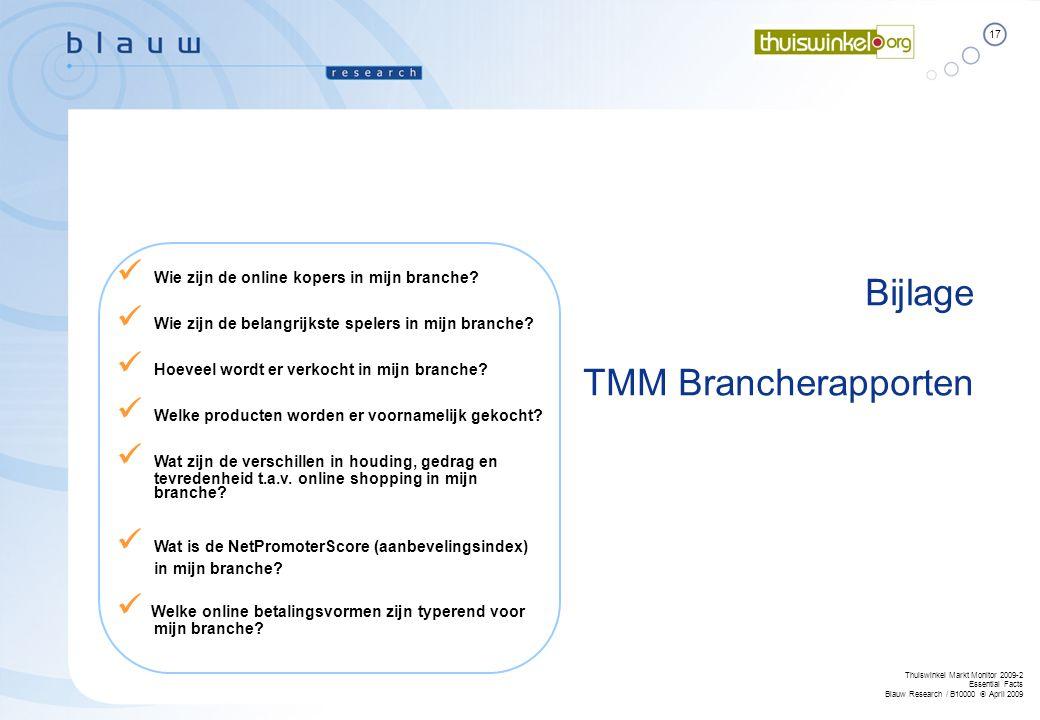 Bijlage TMM Brancherapporten