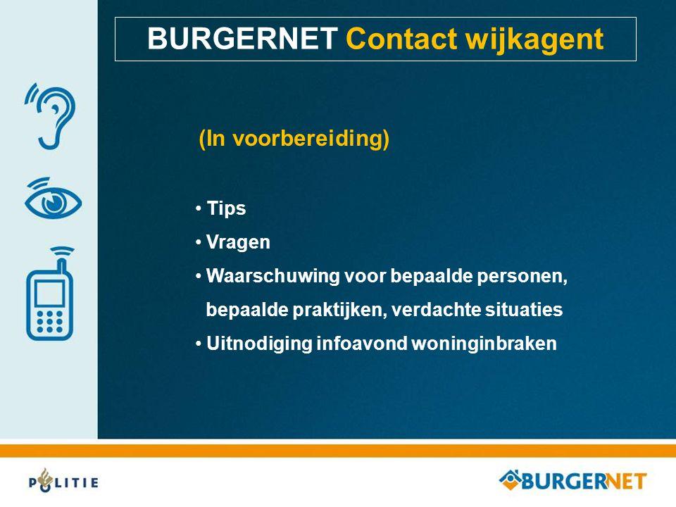 BURGERNET Contact wijkagent