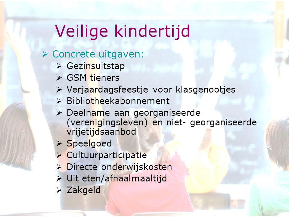 Veilige kindertijd Concrete uitgaven: Gezinsuitstap GSM tieners