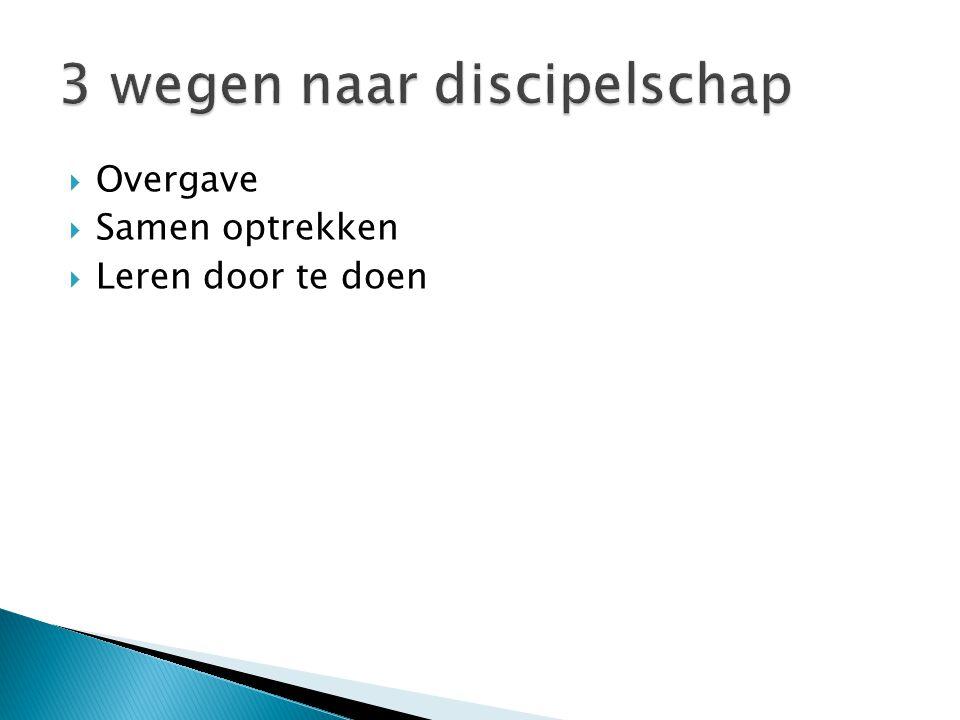 3 wegen naar discipelschap