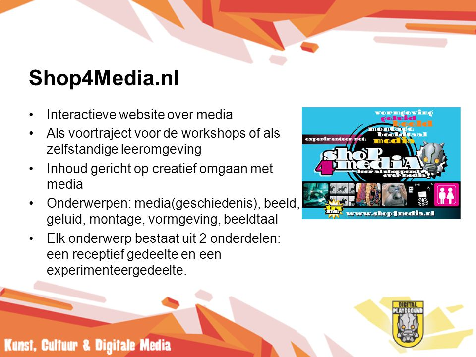 Shop4Media.nl Interactieve website over media