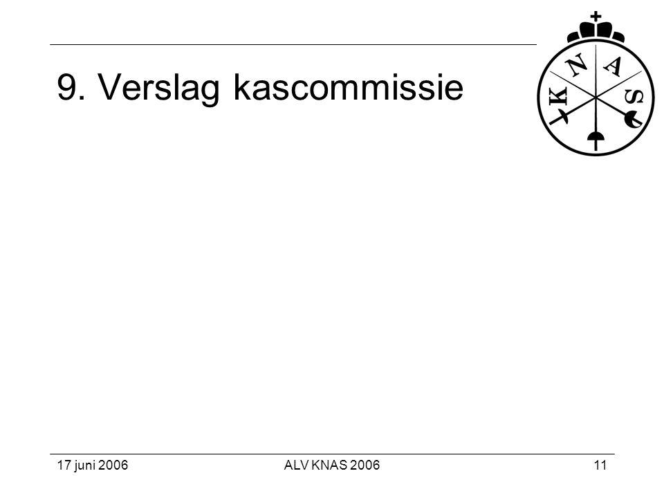 9. Verslag kascommissie 17 juni 2006 ALV KNAS 2006