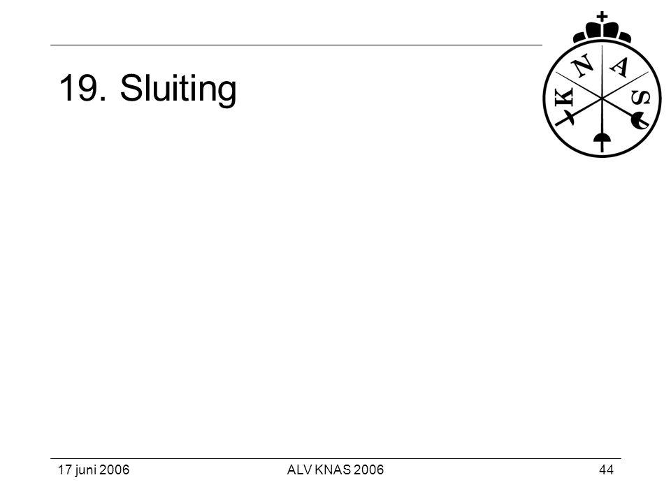 19. Sluiting 17 juni 2006 ALV KNAS 2006