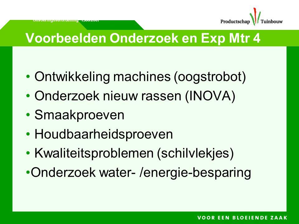 Voorbeelden Onderzoek en Exp Mtr 4