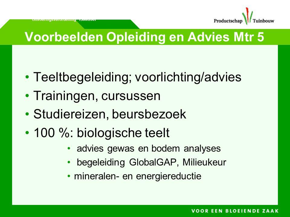 Voorbeelden Opleiding en Advies Mtr 5
