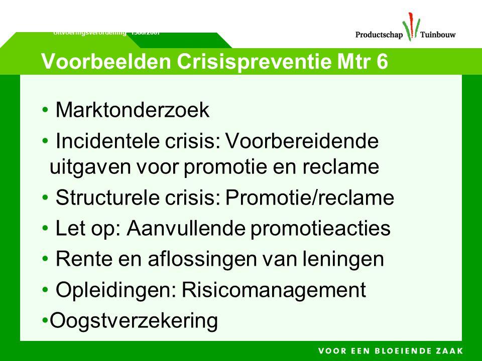Voorbeelden Crisispreventie Mtr 6