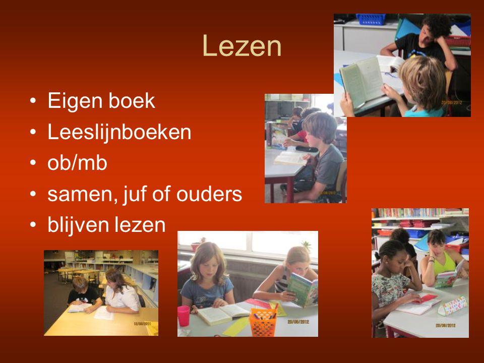 Lezen Eigen boek Leeslijnboeken ob/mb samen, juf of ouders