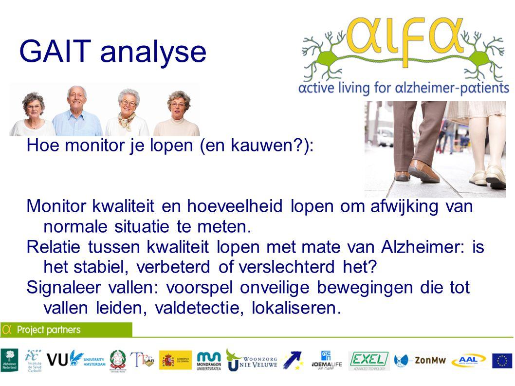 GAIT analyse Hoe monitor je lopen (en kauwen ):