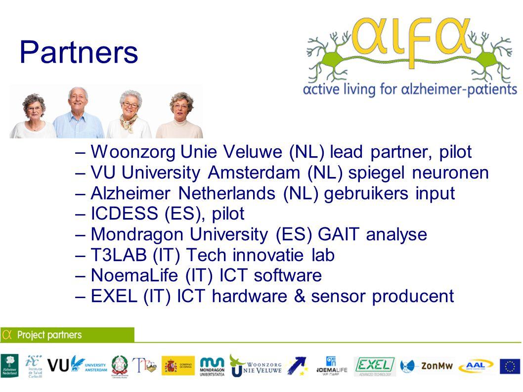 Partners – Woonzorg Unie Veluwe (NL) lead partner, pilot