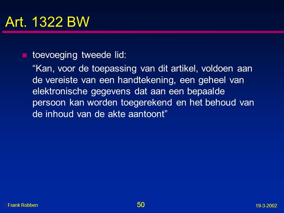 Art. 1322 BW toevoeging tweede lid: