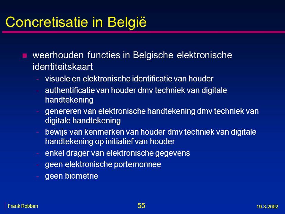Concretisatie in België
