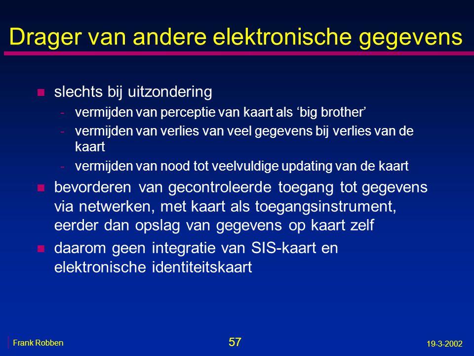 Drager van andere elektronische gegevens