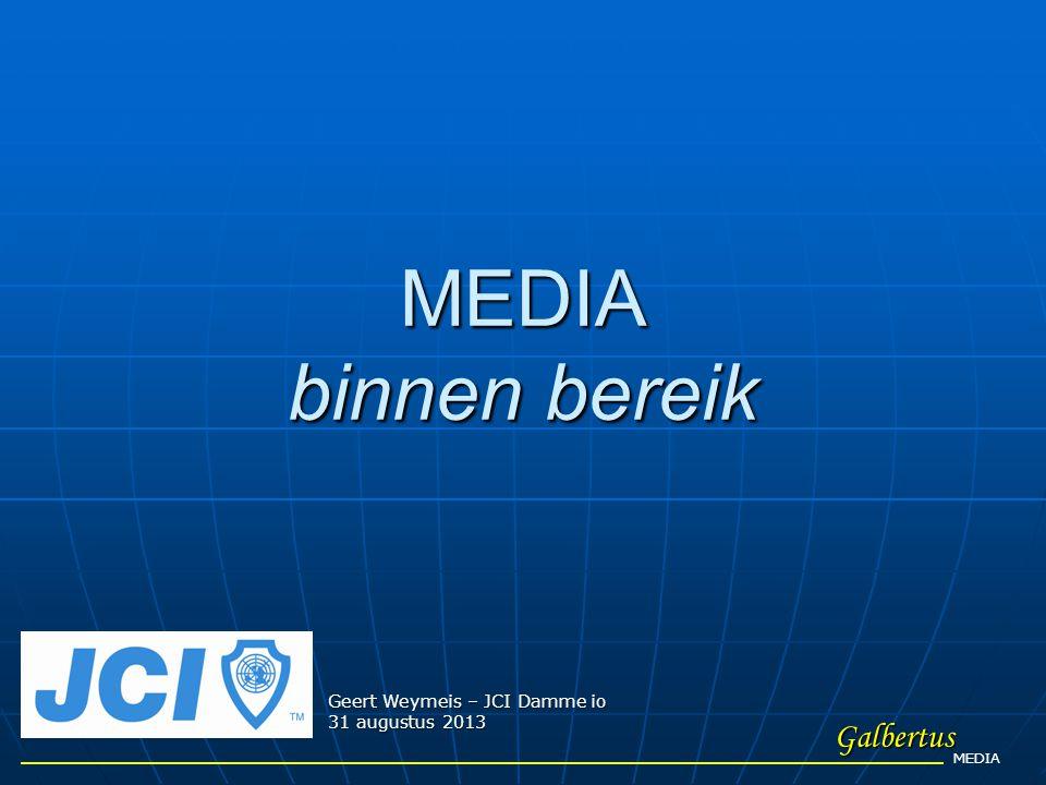 MEDIA binnen bereik Galbertus Geert Weymeis – JCI Damme io