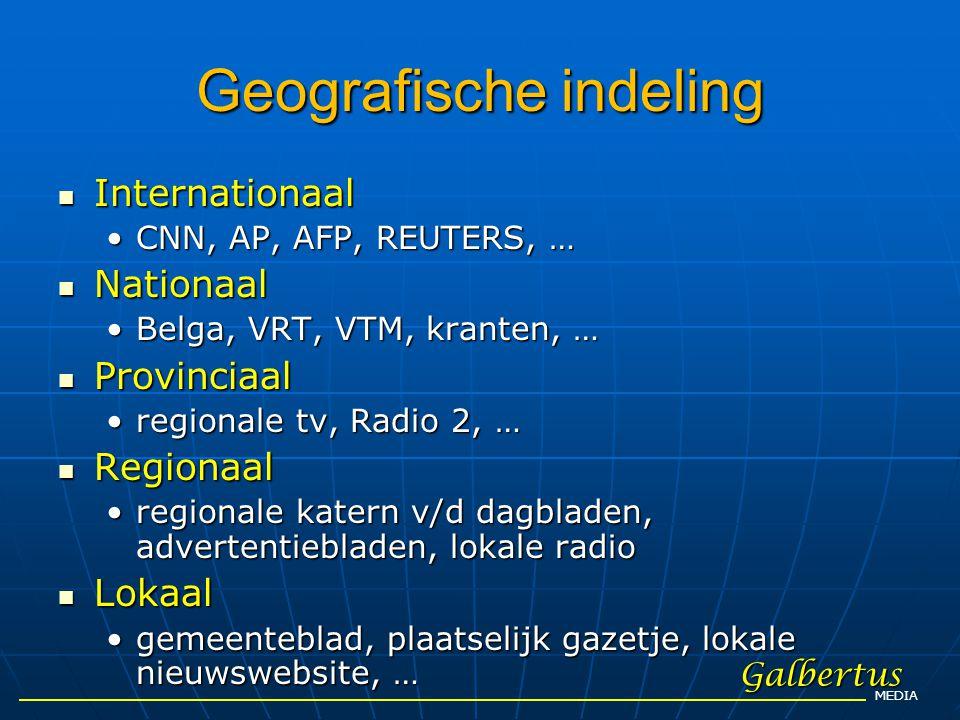 Geografische indeling