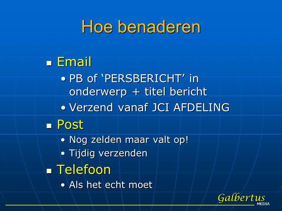 Hoe benaderen Email Post Telefoon