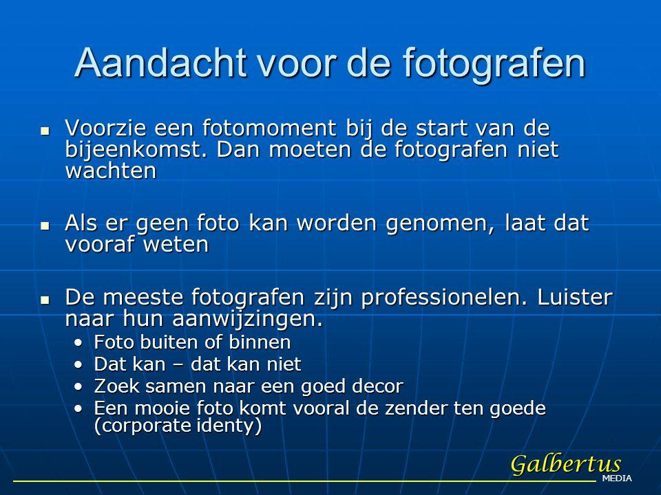 Aandacht voor de fotografen