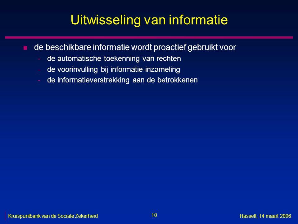 Uitwisseling van informatie
