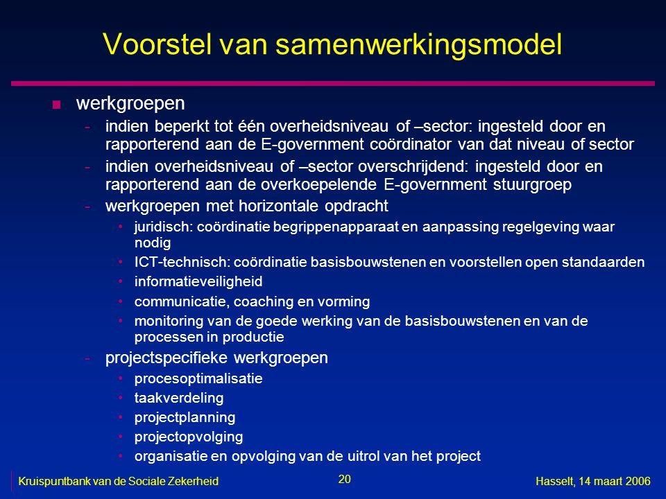 Voorstel van samenwerkingsmodel
