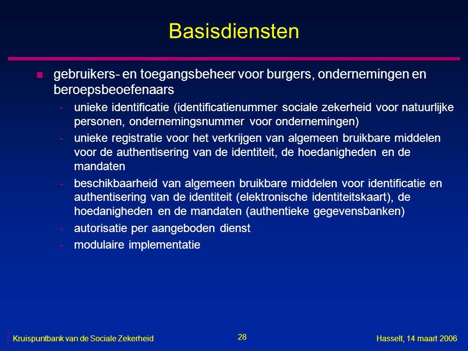 Basisdiensten gebruikers- en toegangsbeheer voor burgers, ondernemingen en beroepsbeoefenaars.
