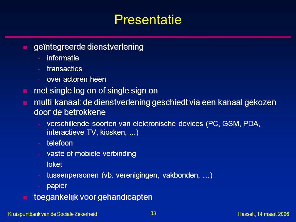 Presentatie geïntegreerde dienstverlening