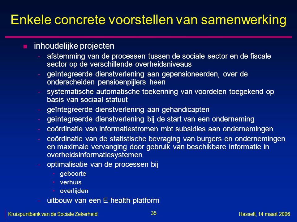 Enkele concrete voorstellen van samenwerking