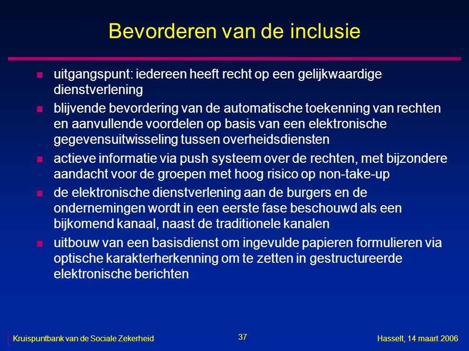 Bevorderen van de inclusie