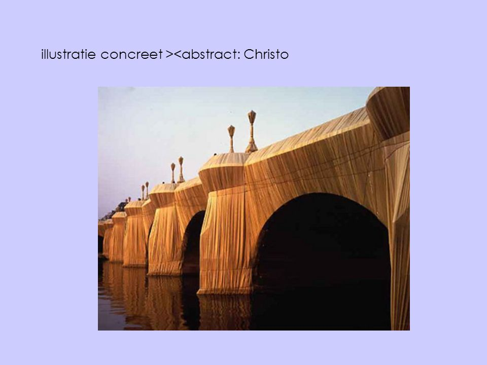 illustratie concreet ><abstract: Christo