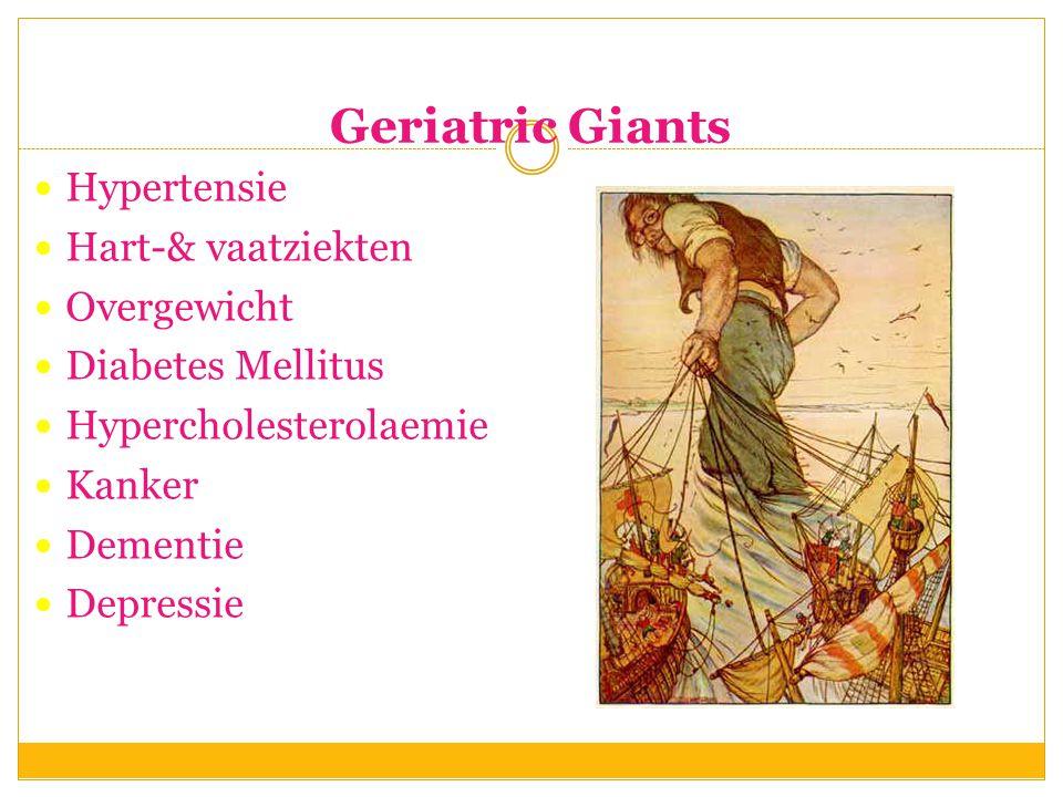 Geriatric Giants Hypertensie Hart-& vaatziekten Overgewicht