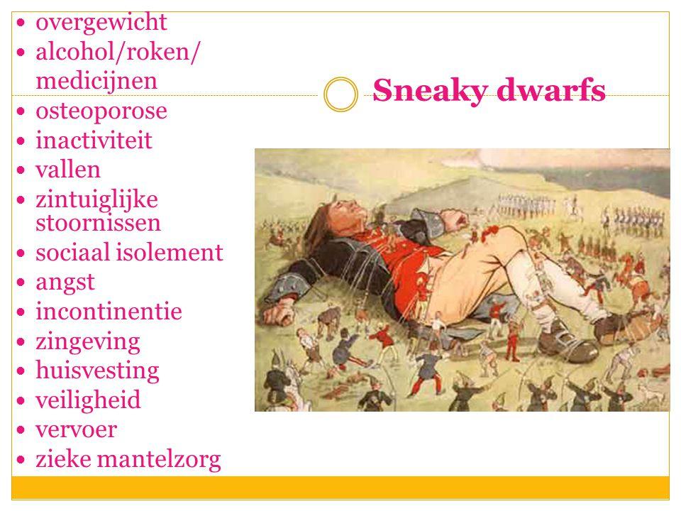 Sneaky dwarfs overgewicht alcohol/roken/ medicijnen osteoporose
