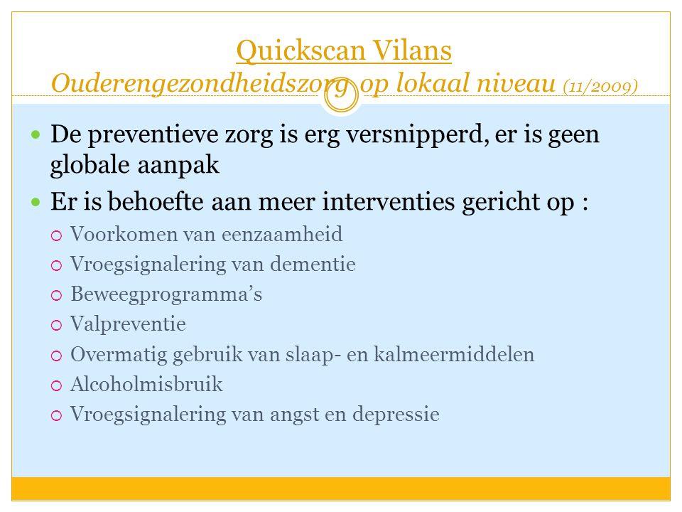 Quickscan Vilans Ouderengezondheidszorg op lokaal niveau (11/2009)