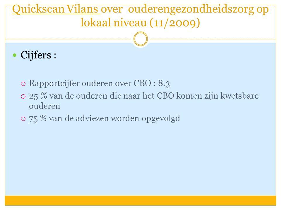 Quickscan Vilans over ouderengezondheidszorg op lokaal niveau (11/2009)