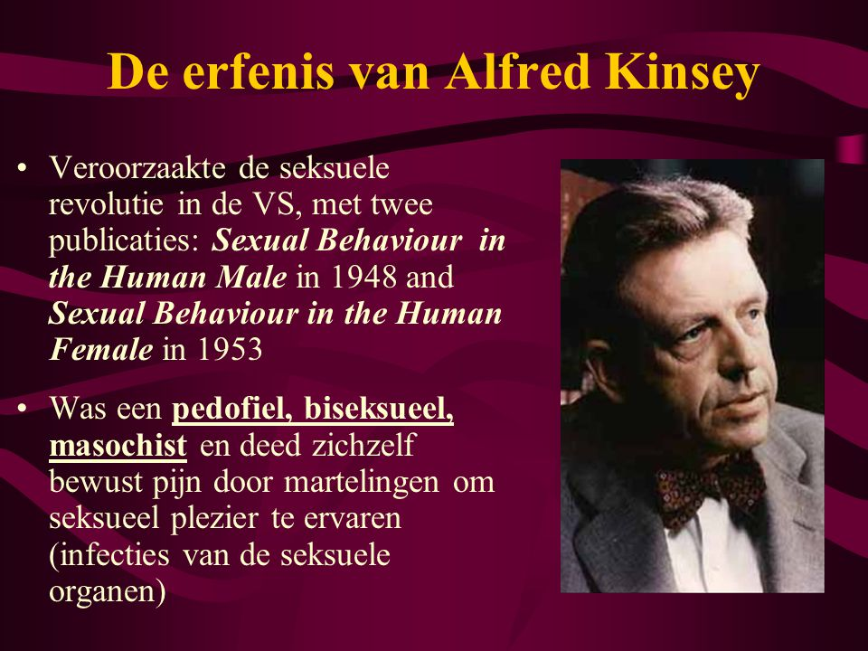 De erfenis van Alfred Kinsey