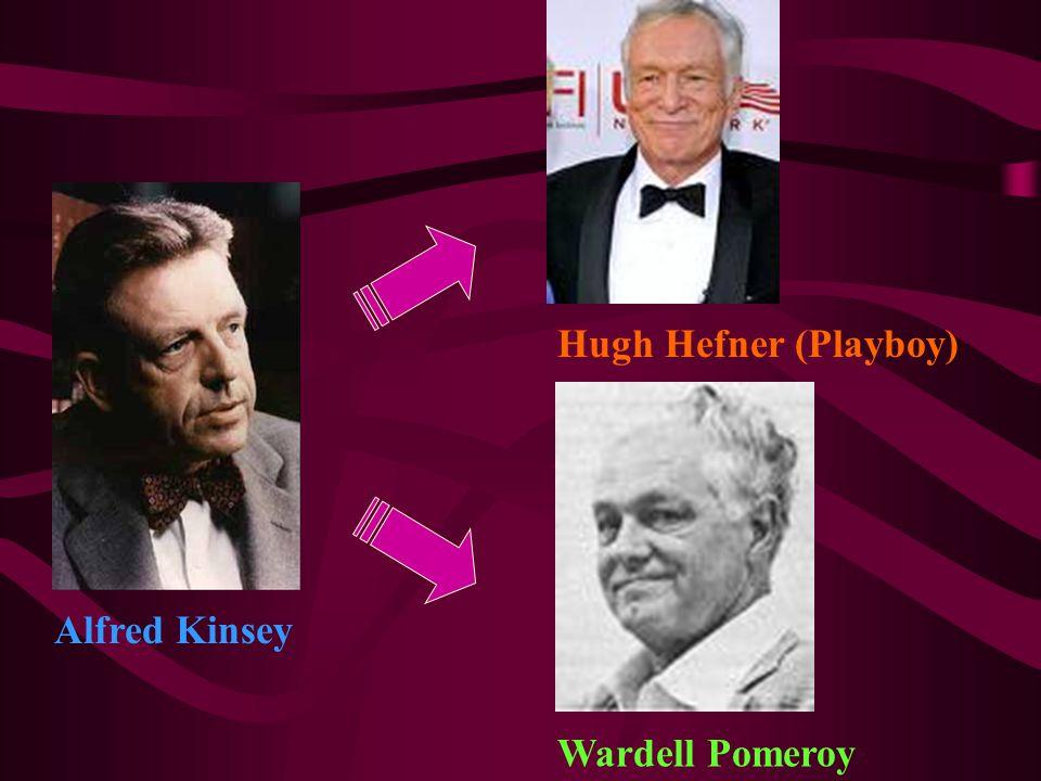 Hugh Hefner (Playboy) Alfred Kinsey Wardell Pomeroy