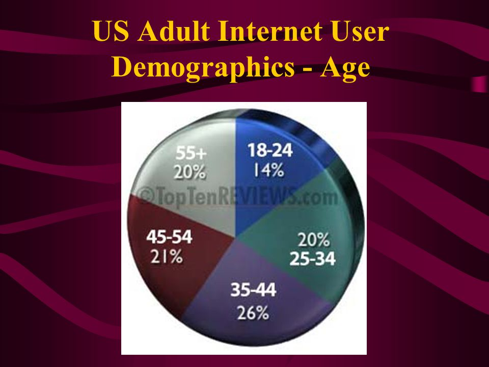 US Adult Internet User Demographics - Age