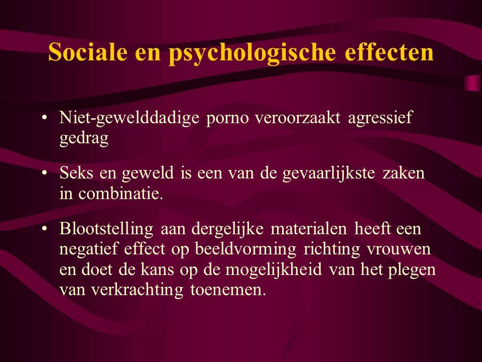 Sociale en psychologische effecten