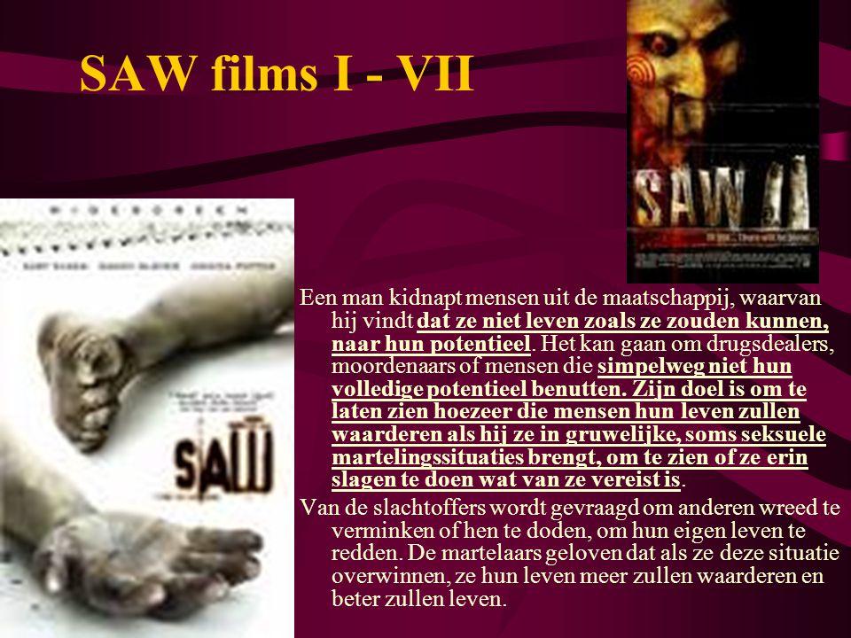 SAW films I - VII