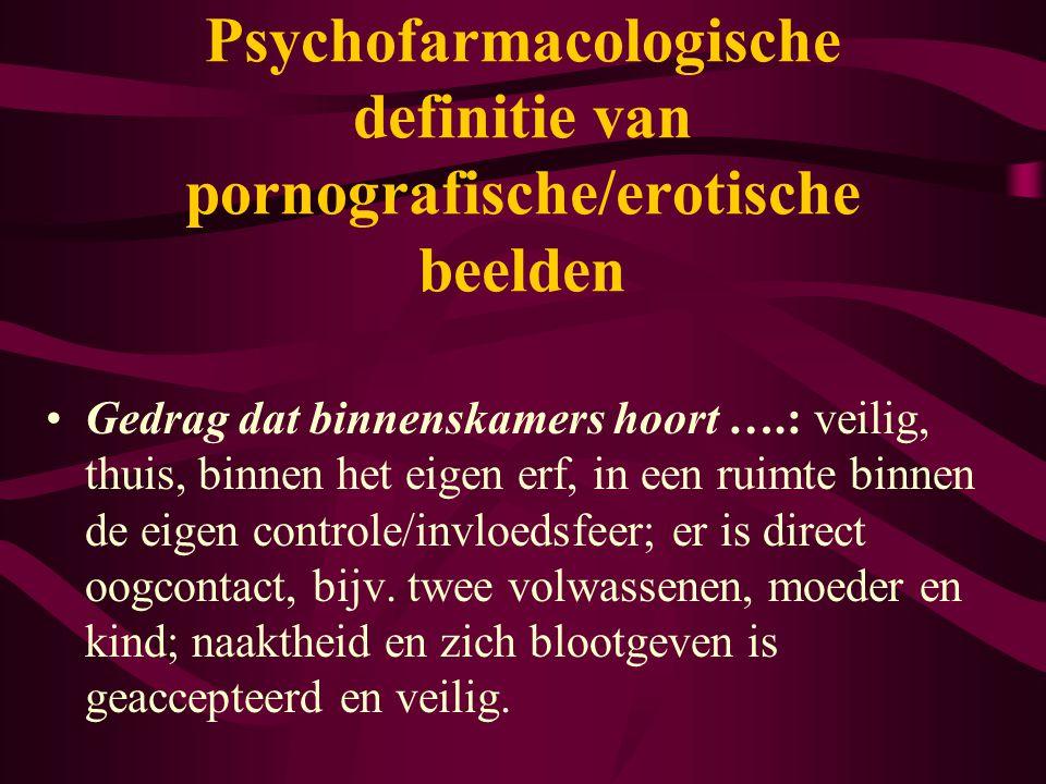 Psychofarmacologische definitie van pornografische/erotische beelden