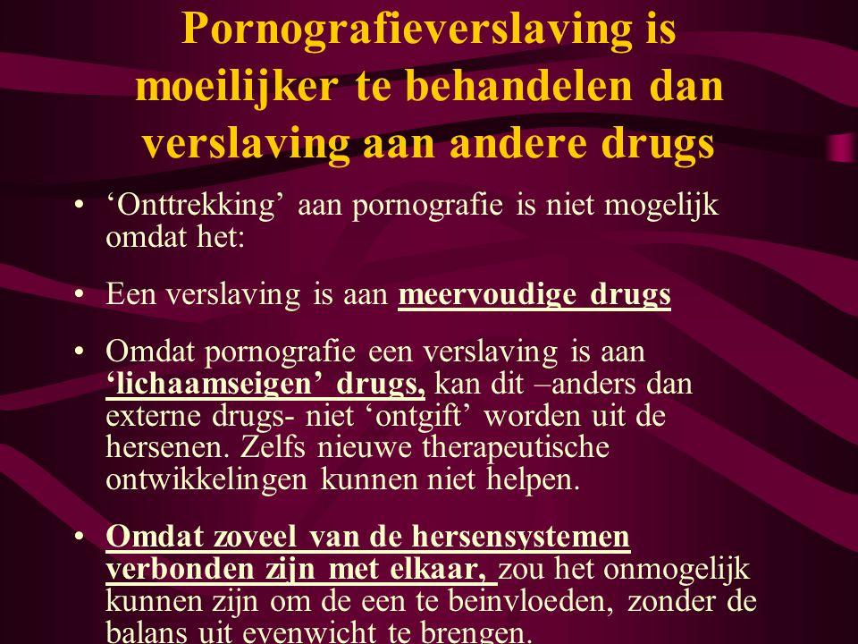 Pornografieverslaving is moeilijker te behandelen dan verslaving aan andere drugs