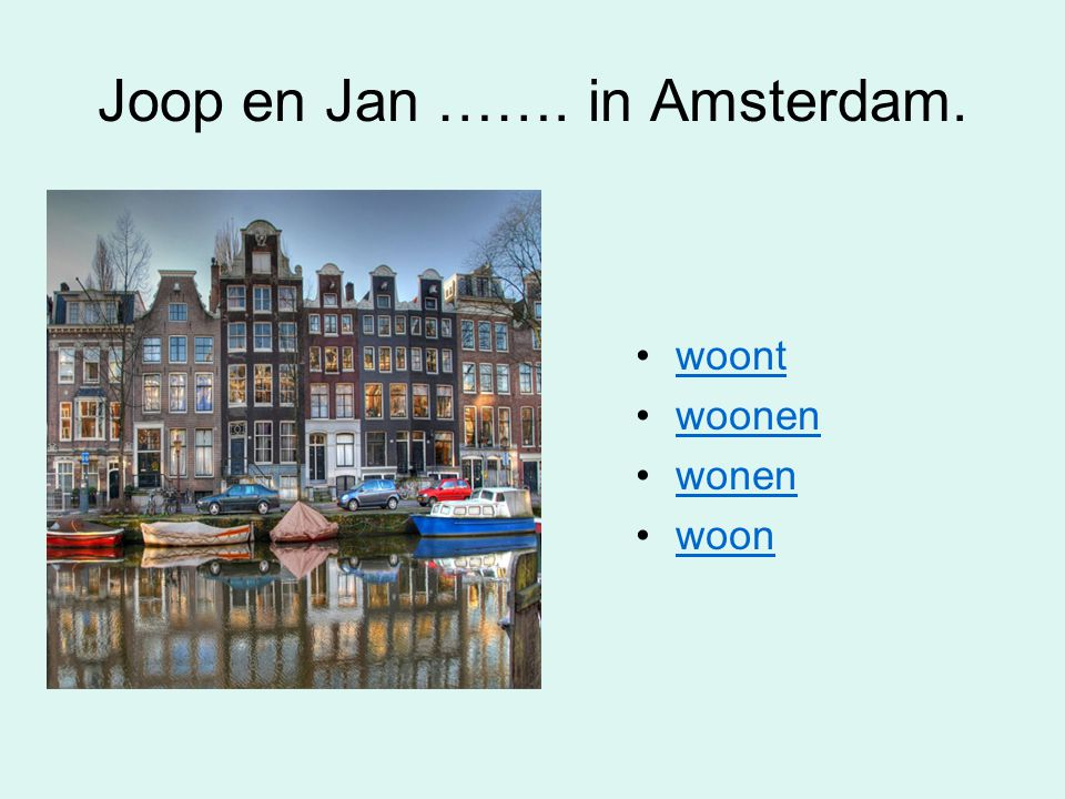 Joop en Jan ……. in Amsterdam.