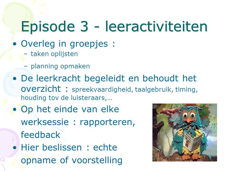 Episode 3 - leeractiviteiten