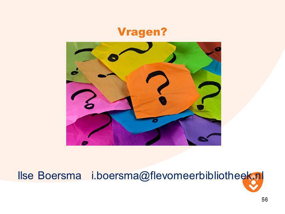 Ilse Boersma i.boersma@flevomeerbibliotheek.nl