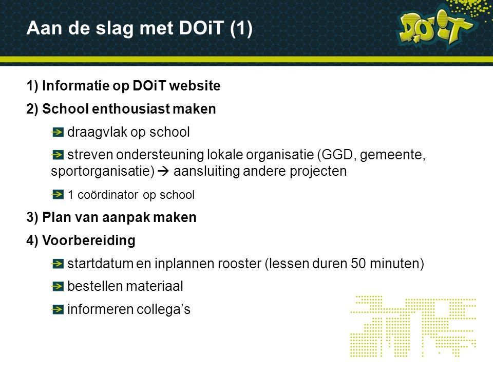Aan de slag met DOiT (1) 1) Informatie op DOiT website