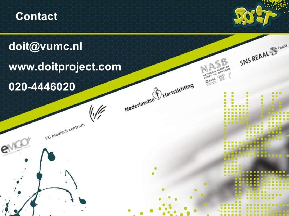 Contact doit@vumc.nl www.doitproject.com 020-4446020 VRAGEN VRAGEN