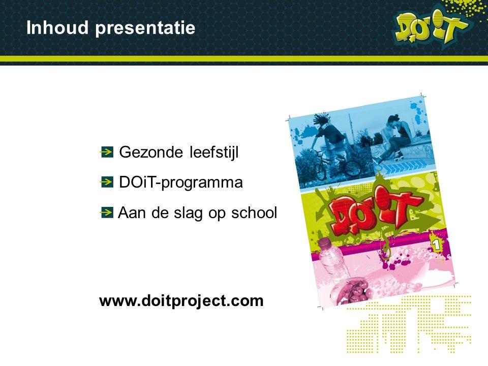 Inhoud presentatie Gezonde leefstijl DOiT-programma