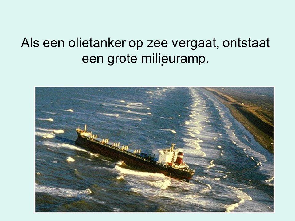 Als een olietanker op zee vergaat, ontstaat een grote milieuramp.