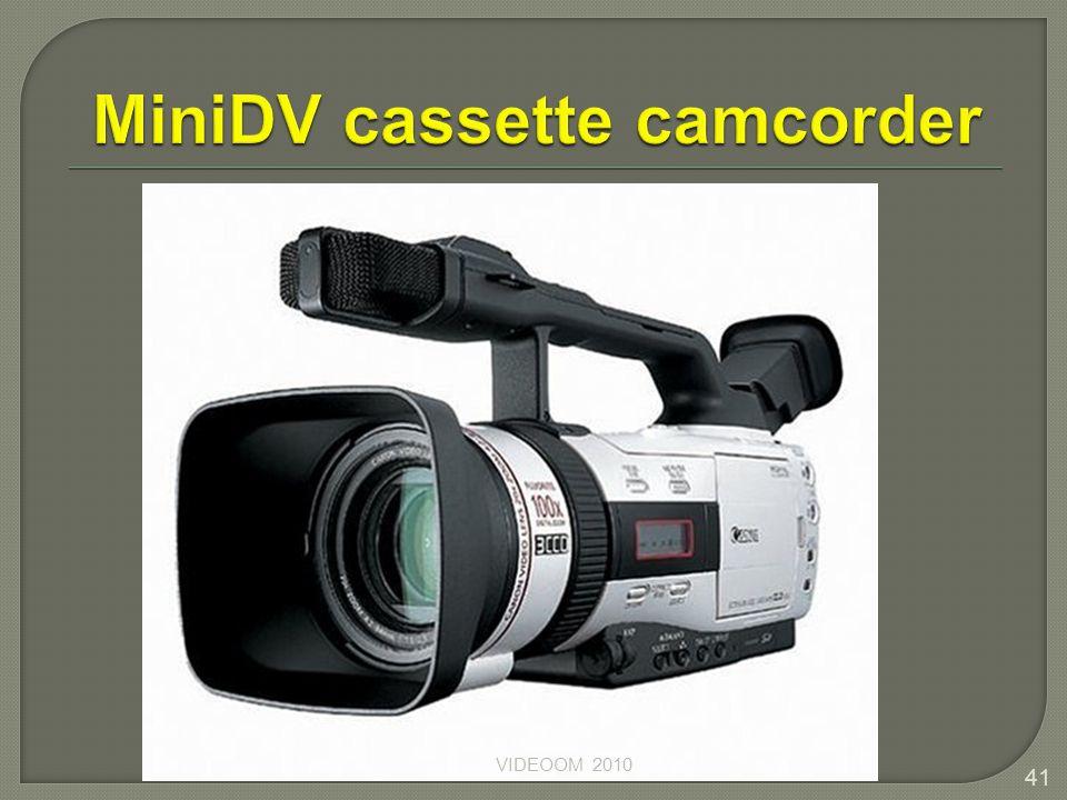 MiniDV cassette camcorder