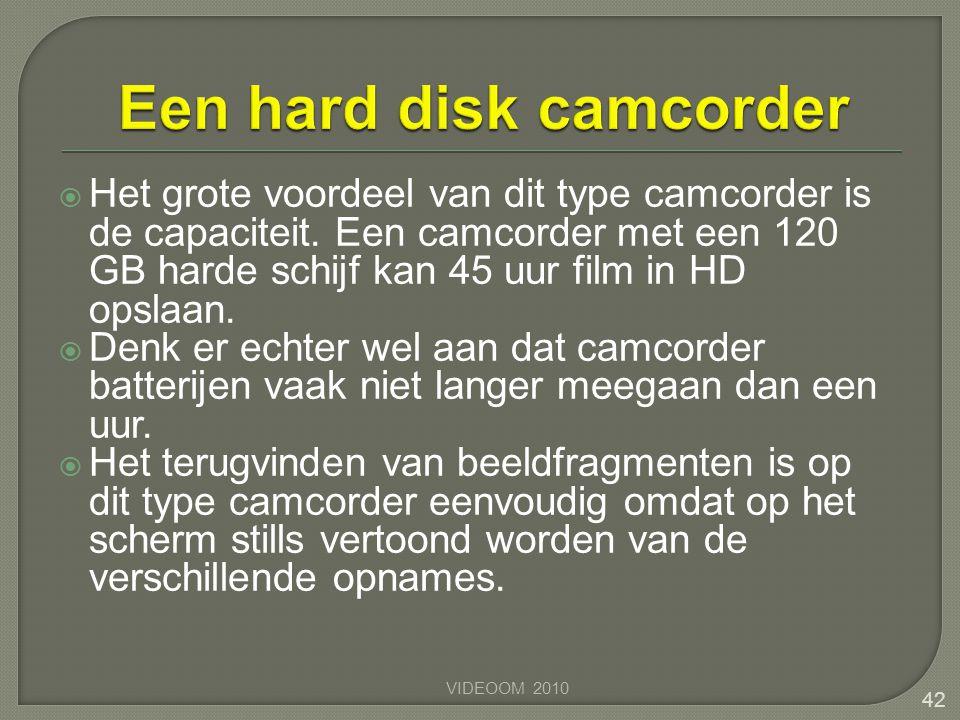 Een hard disk camcorder